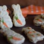 Zajčki iz korenčkovega biskvita (brez moke)