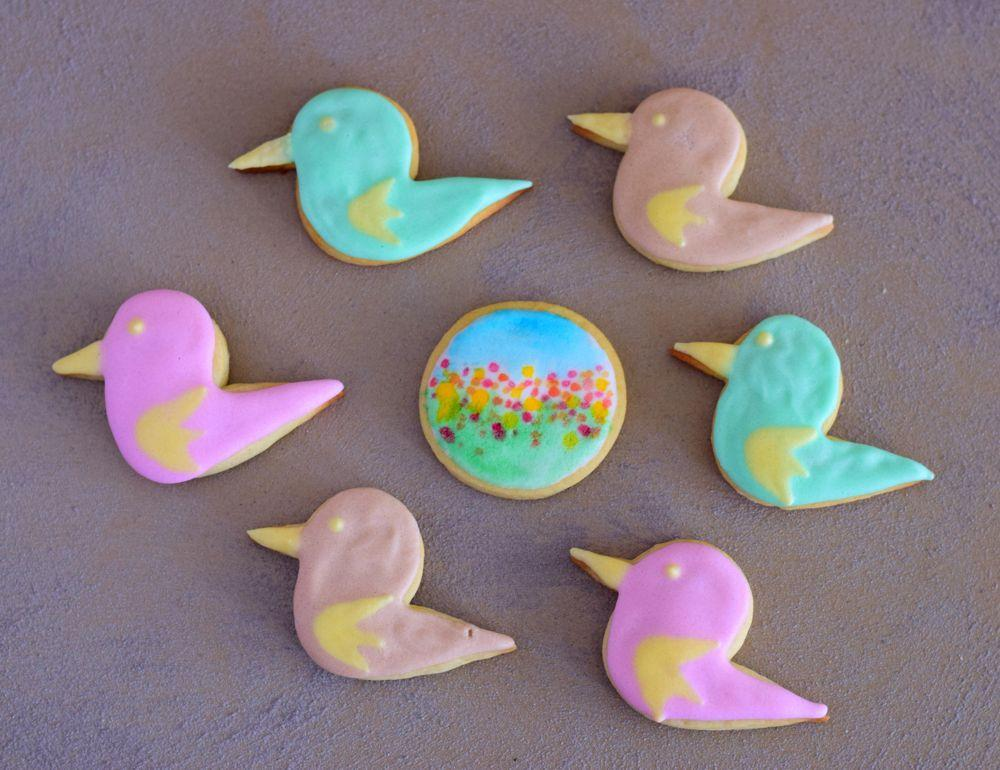 Birds, Sping, royal icing cookies, 2017