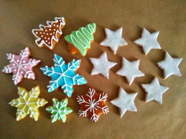 Božični piškoti, royal icing