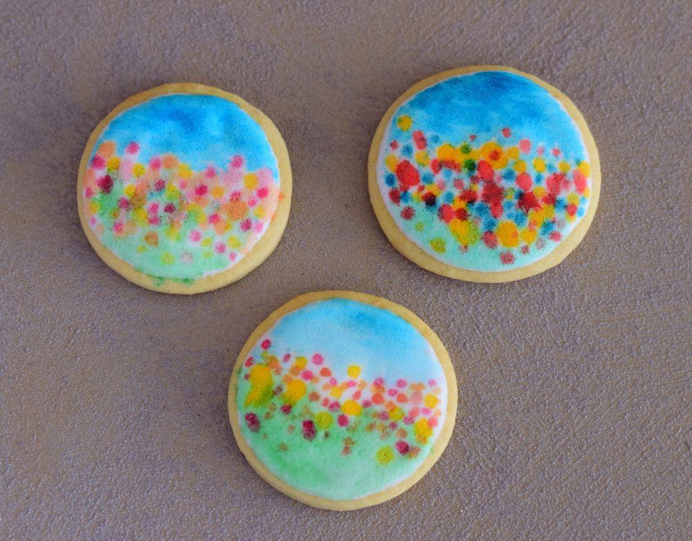 Flowers, grass, sky - cookies