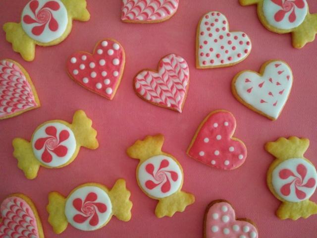 Royal icing - Love Candies cookies, 2017