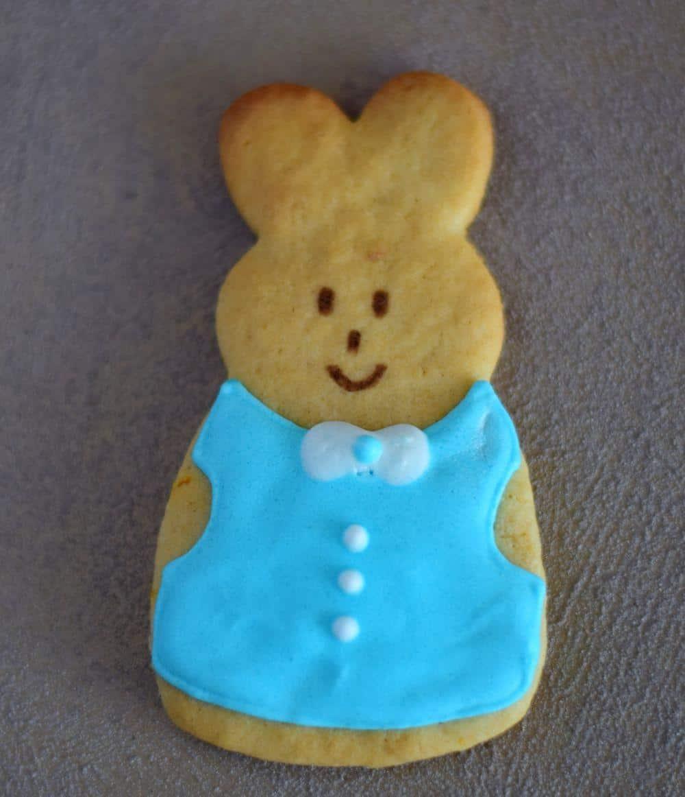 Rabbit boy cookie