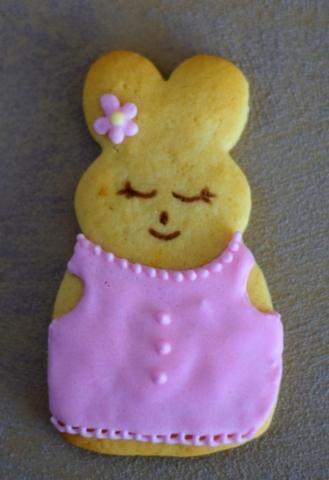 Rabbit girl cookie