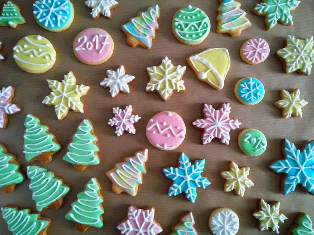 Royal icing božični piškoti