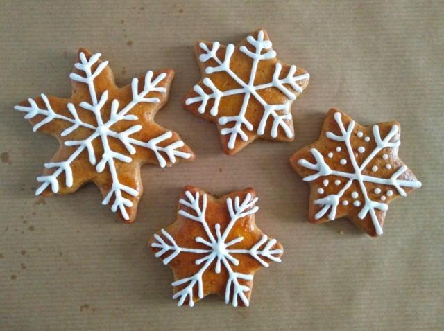 Snežinke, medenjaki, royal icing, božič 2016