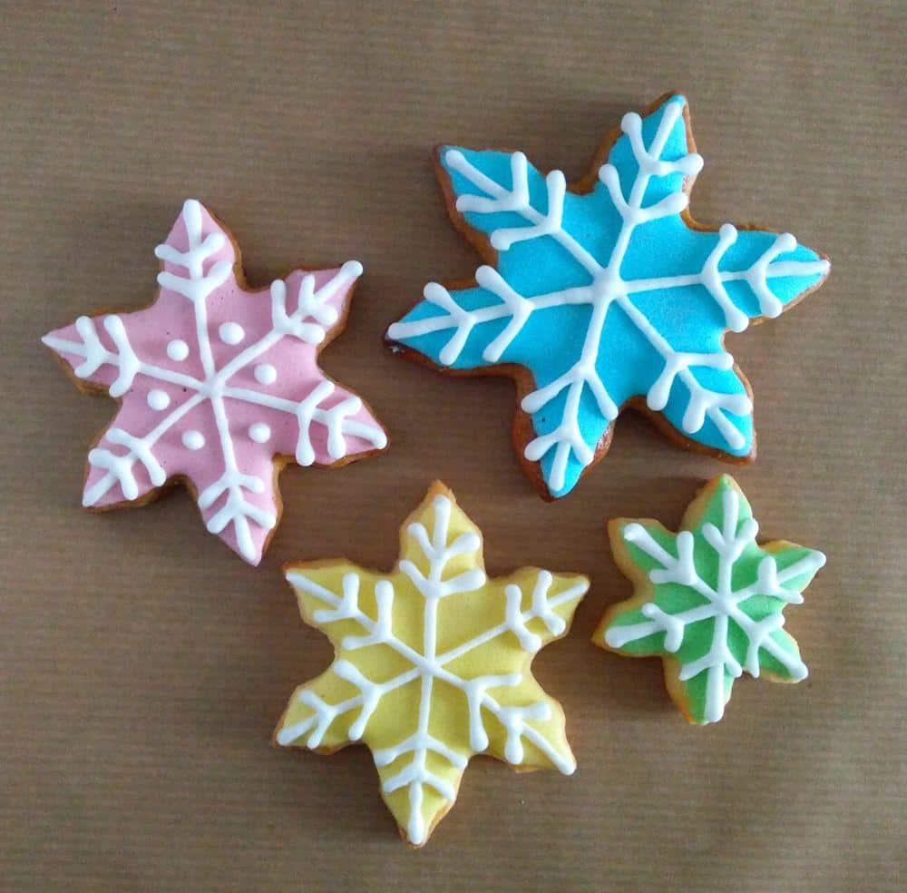Snežinke, royal icing, božič 2016