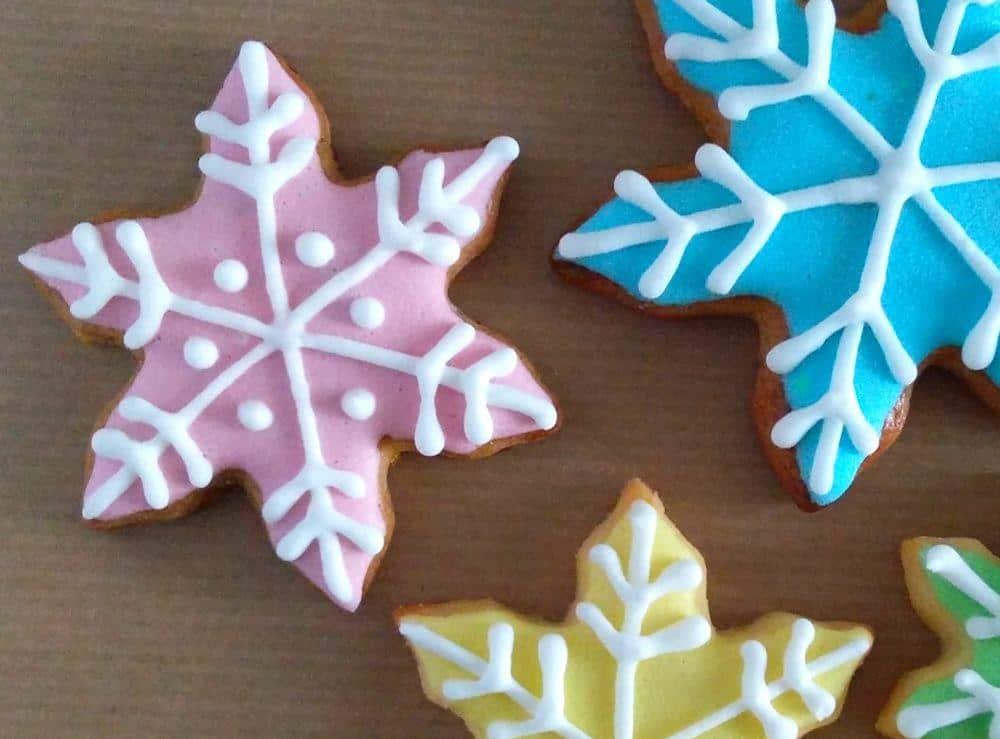Medenjaki, royal icing, snežinke, božič 2016
