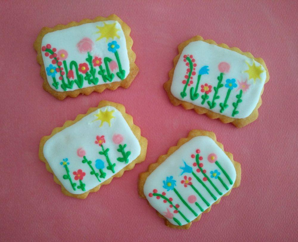 Spring is coming to town - royal icing sugar cookies 2017