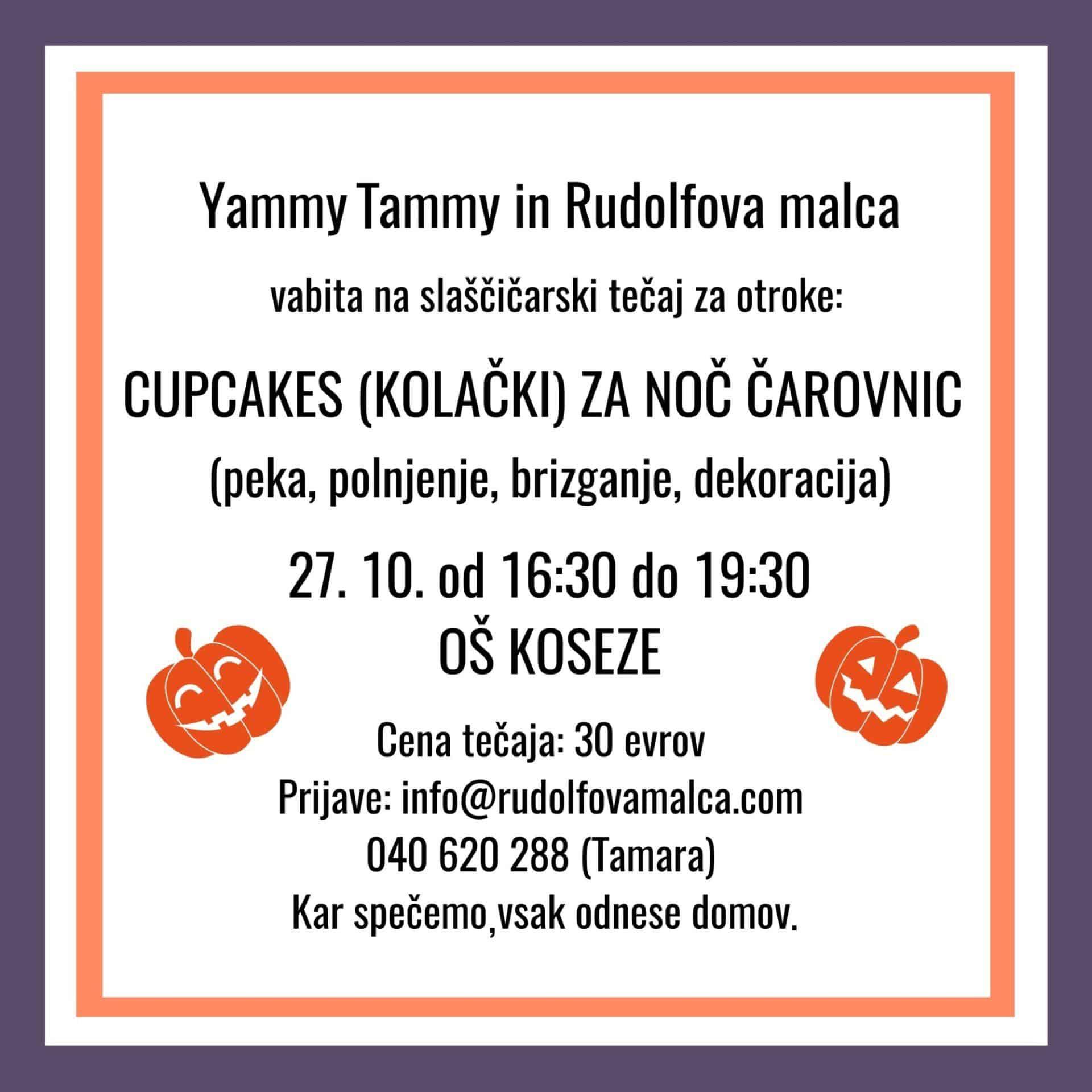 Slaščičarski tečaj za otroke - Cupcakes (kolački) za noč čarovnic